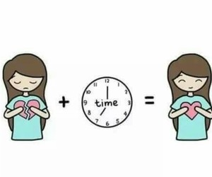 time, love, and heart image