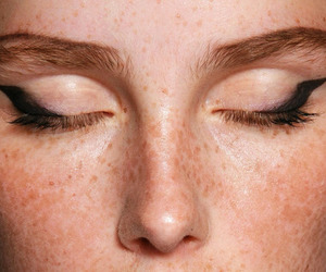 makeup, eyes, and freckles image