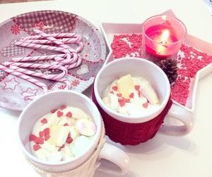 candycane, marshmallow, and christmas image
