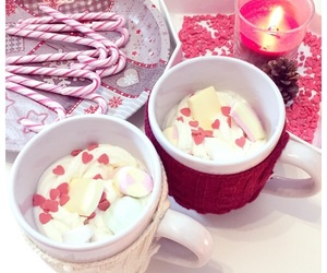 christmas, candycane, and heart image