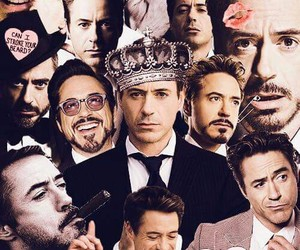 robert downey jr, Collage, and iron man image