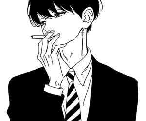 manga, monochrome, and black and white image