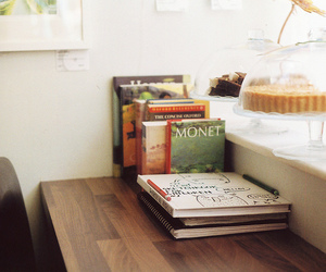 book, art, and monet image