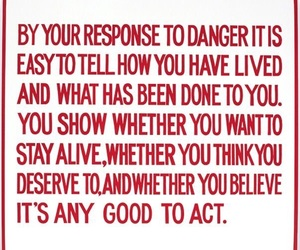 quotes, danger, and red image