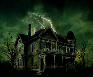 green, haunted house, and house image