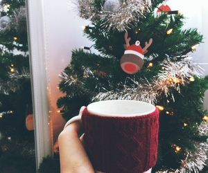 christmas, decorations, and red image