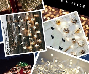 holiday lights, lifestyle, and pretty image