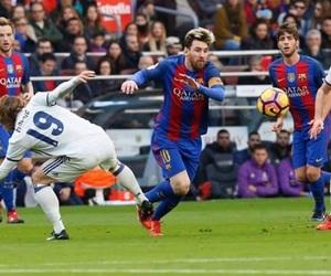 football, messi, and real madrid image
