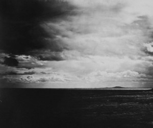 black and white, clouds, and vintage image