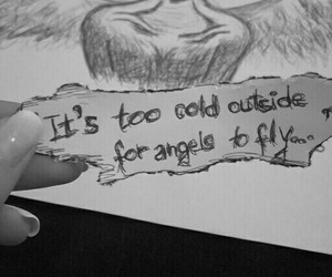 angel, drawing, and quote image