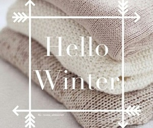 winter, hello, and snow image