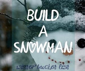christmas, snow, and snowman image