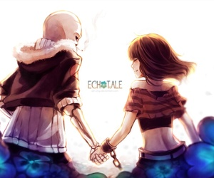 frisk, undertale, and echotale image