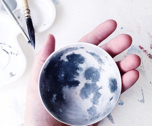 3d, moon, and art image