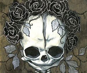 roses, skull, and briana bainbridge image