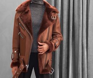 coat, fashion, and black image