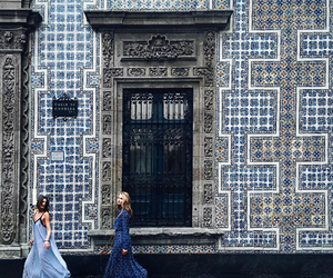 blue, girls, and travel image