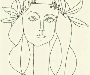 picasso, art, and woman image