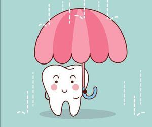 art, rain, and tooth image