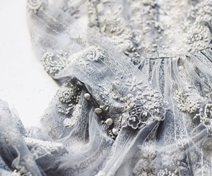 beautiful, gown, and ice blue image