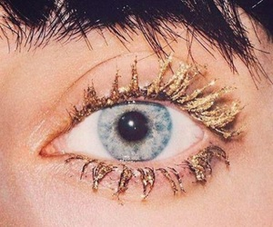 gold, eyes, and makeup image