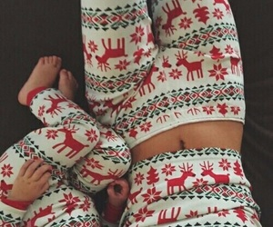 pajamas, winter, and cozy image