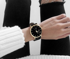 fashion, black, and watch image