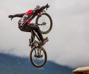 bike, sky, and brandon semenuk image