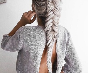 grey, hair, and gris image