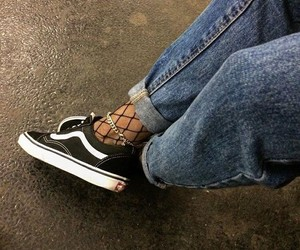vans, style, and jeans image