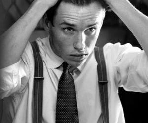 eddie redmayne, Hot, and black and white image