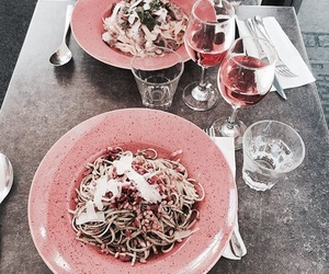 food, pink, and style image