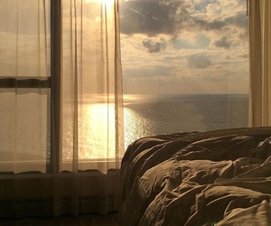 sea, sunset, and aesthetic image