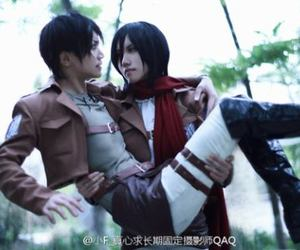 cosplay, att, and mikasa and eren image