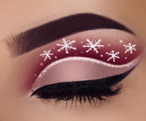 makeup, christmas, and eyebrows image
