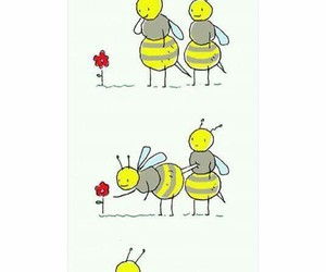 bee, funny, and flower image