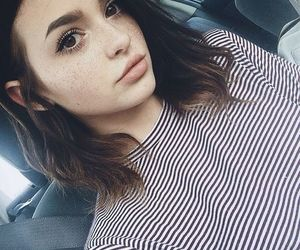 girl, beauty, and freckles image