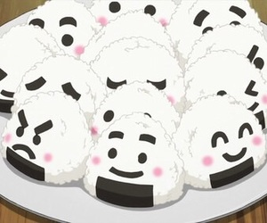 onigiri, food, and kawaii image