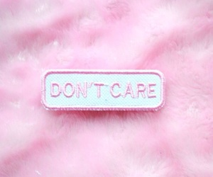 pink, aesthetic, and don't care image
