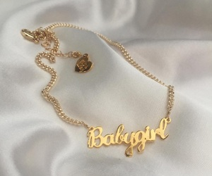gold, necklace, and babygirl image