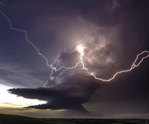 lightning, storm, and clouds image