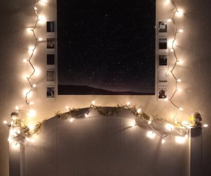 bed, bed room, and christmas image