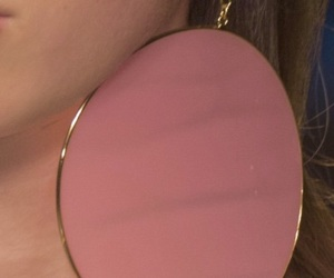 earrings, pink, and fashion image