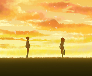 anime, sunset, and yourlieinapril image