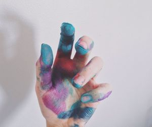 paint, art, and hand image