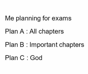 college, exams, and god image