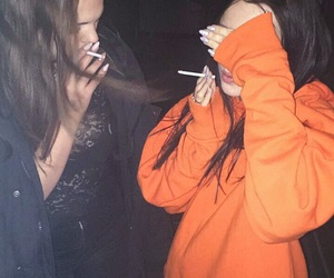 besties, black, and cigarettes image