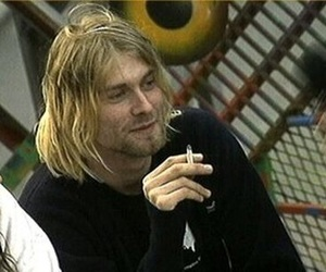 kurt cobain, nirvana, and cigarette image