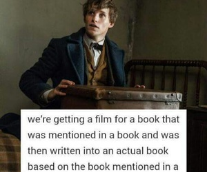 newt scamander, fantastic beasts, and book image