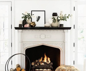 white, interior, and fire image